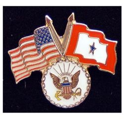 Navy Pin with Crossed US/Service Flags Thumbnail
