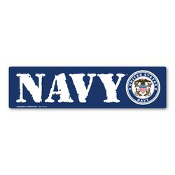 Navy Bumper Strip Magnet Thumbnail