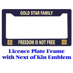 Next of  Kin Gold Star Licence Plate Frame Thumbnail