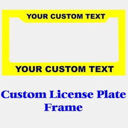 Custom License Plate Frame Thumbnail