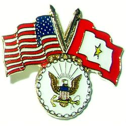 USA/SF Gold Star pin with Navy logo Thumbnail