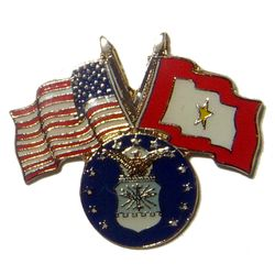 USA-SF Gold Star pin with USAF logo Thumbnail