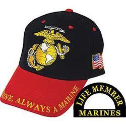 USMC Cap w/Red Bill Thumbnail