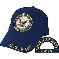 US Navy Cap with Navy Logo Thumbnail