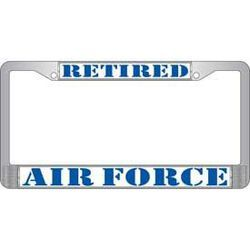 USAF Retired License Plate Frame Thumbnail