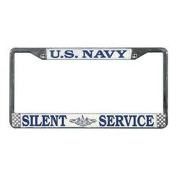 US Navy Silent Service License Plate Frame (1 left) Thumbnail