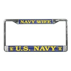 US Navy Wife License Plate Frame (Limited Availability) Thumbnail