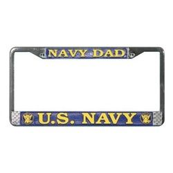 US Navy DadLicense Plate Frame (Limited Availability) Thumbnail