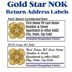 Gold Star NOK Address Labels Thumbnail