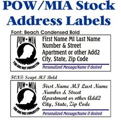 POW/MIA Stock Address Labels Thumbnail