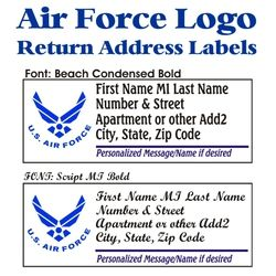 Air Force Stock Address Labels Thumbnail