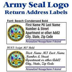 Army Seal Stock Address Labels Thumbnail