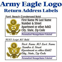 Army Eagle Stock Address Labels Thumbnail