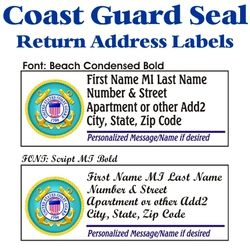 Coast Guard Seal Stock Address Labels Thumbnail