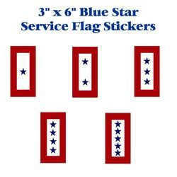 Blue Star Service Flag 5 1/2