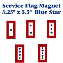 Blue Star Service Flag Magnet 3.25