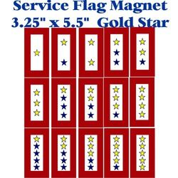 Gold Star Service Flag Magnet 3.25