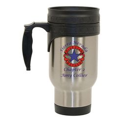 Stainless Steel Travel Mug with Blue Star Mother's Logo Thumbnail
