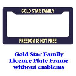 Gold Star Family Licence Plate Frame Thumbnail