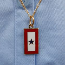Service Flag Charm with 18