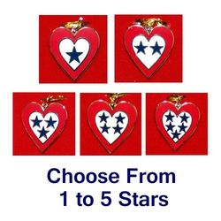 Service Flag Heart Charm with 18