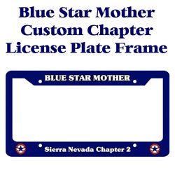 Blue Star Mother Chapter Licence Plate Frame Thumbnail