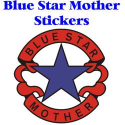 Blue Star Mother Logo Stickers Thumbnail