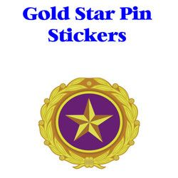 Gold Star Pin Sticker Thumbnail