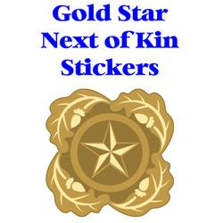 Gold Star Next of Kin Design Sticker Thumbnail
