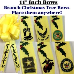 11 Inch Branch Holiday Ribbon Bow Thumbnail