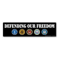 Defending Our Freedom Bumper Strip Magnet Thumbnail