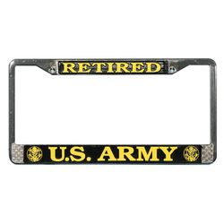 US Army Retired License Plate Frame Thumbnail
