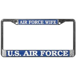 Air Force Wife License Plate Frame (limited availability) Thumbnail