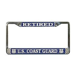 US Coast Guard Retired License Plate Frame (Limited Availability) Thumbnail