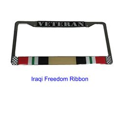 Veteran Iraqi Freedom Ribbon License Plate Frame (Limited Availability) Thumbnail