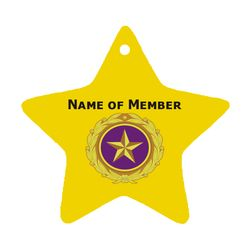Gold Star Ornament w/Custom Text and Selected Branch logo Thumbnail