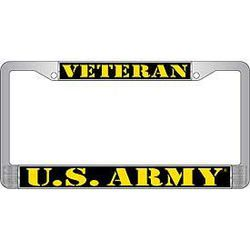 US Army Veteran License Plate Frame Thumbnail