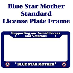 Blue Star Mother Licence Plate Frame Thumbnail