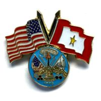 USA/SF Gold Star pin with Army logo Thumbnail