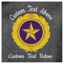 Embroidered Gold Star Pin Design with Custom Text Above and Below  - Fleece Vest Thumbnail