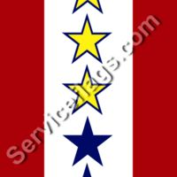 3 gold 2 blue stars service flag Thumbnail