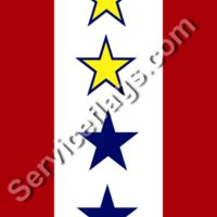 2 gold 2 blue stars service flag Thumbnail