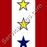 2 gold 1 blue stars service flag Thumbnail
