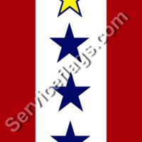 1 gold 3 blue stars service flag Thumbnail