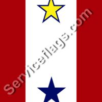 1 gold 1 blue star service flag Thumbnail