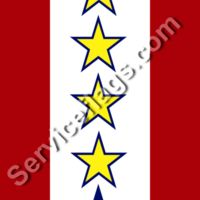 4 gold 1 blue stars service flag Thumbnail