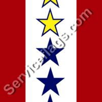 2 gold 3 blue stars service flag Thumbnail