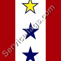 1 gold 2 blue star service flag Thumbnail